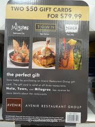 restaurant gift card avenir restaurant nola town milagros discount gift card