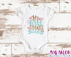 my thanksgiving svg cut file set for newborn baby onesies