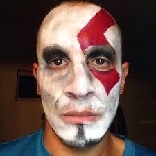 how to facepaint yourself like kratos god of war u2013 angel leon
