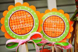 pumpkin centerpiece sticks pumpkin birthday decorations