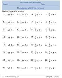 multiplication worksheets 3rd grade math ke koogra
