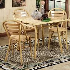 mandalay patio dining furniture mandalay table and chairs bamboo finish set of five