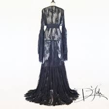 dressing gown boudoir by d lish valentina black lace dressing gown