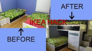 ikea hack single beds turn into a modern bunk bed youtube