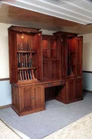 Building A Gun Cabinet Gun Cabinet Desk Combo Gun Cabinetry Long Gun Pistol Wall