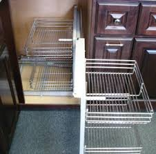 Pull Out Baskets For Kitchen Cabinets by Amazon Com Chrome Blind Corner Organizer Pullout Unit For Kitchen