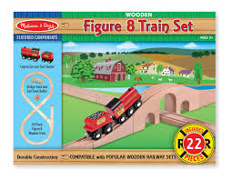 Making Wooden Toy Train Tracks by Amazon Com Melissa U0026 Doug Classic Wooden Figure Eight Train Set