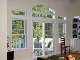 pella sliding glass door white glaze wooden sliding patio door with black glass door panels