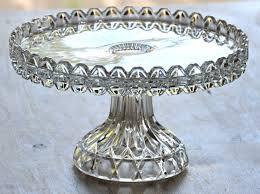 vintage cake stand vintage glass single tier cake stand breton antique and chic