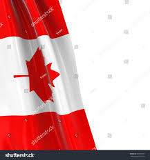 Flag Of Canada Hanging Flag Canada 3d Render Canadian Stock Illustration