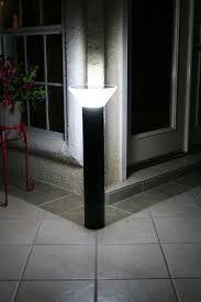 Solar Powered Bollard Lights - high output bright solar powered bollard light premium modern