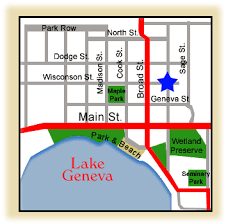 map of lake geneva wi area information near the nautical vacation rental home in lake