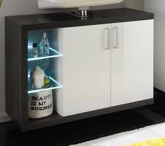 Weie Badmbel Waschbeckenunterschrank Weiß Hochglanz Schubladen Badezimmer
