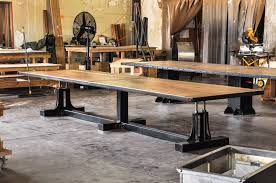 Vintage Conference Table Post Industrial Conference Table Industrial Vintage Industrial