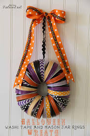 halloween tape halloween washi tape and mason jar rings wreath tgif this