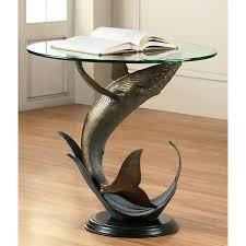 dolphin coffee tables sealife glass side tables
