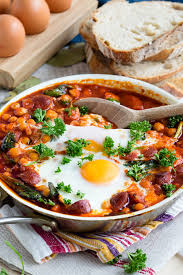 dinner egg recipes chorizo and chickpea stew with baked eggs the worktop