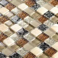 Stone Mosaic Tile Kitchen Backsplash by Brown Glass Mixed Stone Mosaic Tiles Bathroom Tiles Kitchen