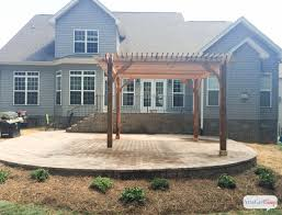 How To Build A Pergola On Concrete by How To Build A Patio Trellis Home Design Ideas And Pictures