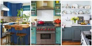 best paint for kitchen units uk 10 beautiful blue kitchen decorating ideas best blue