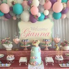shabby chic vintage mermaid baby shower party ideas mermaid