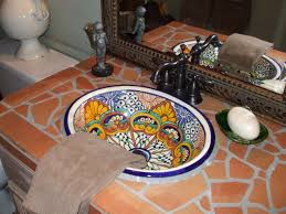 mexican tile bathroom designs terracotta mexican tile bathroom sink bathroom tile what works
