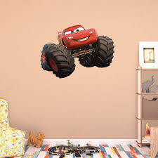 fathead kids wall decals fathead monster truck lightning mcqueen wall decal