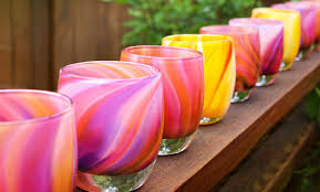 glassbaby brings hand blown votives cups to fashion island