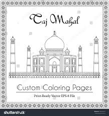 taj mahal temple india vector coloring stock vector 562436725