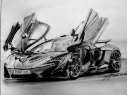 semi realistic sketch no 9 mclaren p1 by cage0015 on deviantart
