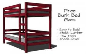Bunk Bed Plans Free Simple Bunk Bed Plans Few Tools Stock Lumber Woodwork City