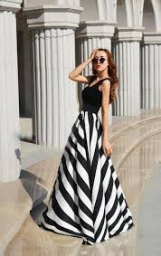 black and white striped maxi dress backless dress summer dresses