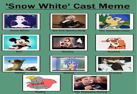 Snow White Meme - my snow white cast meme by gxfan537 on deviantart
