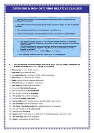 104 free esl relative clauses worksheets for pre intermediate a2