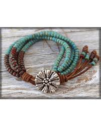 boho wrap deals on seed bead leather wrap bracelet beaded leather wrap