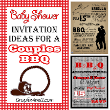 baby shower for couples baby shower invitations couples baby shower bbq invitations ideas
