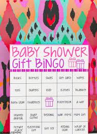 baby shower gift bingo baby shower bingo cards real housemoms