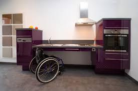 cuisine handicap plan de travail handicapé exemples de réalisations en photo