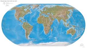 Blank World Map Of Continents by