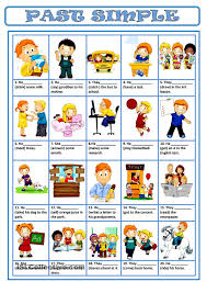 past simple coisas para usar pinterest past tense esl and