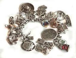 jewelry sterling charm bracelet images Vintage sterling silver charm bracelet ebay JPG