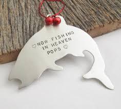 memorial gift for grandpa memorial fishing ornament gift for pops