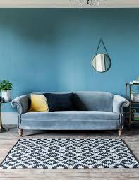 Red Velvet Chesterfield Sofa by Vintage Regency Velvet Sofa 2 Or 3 Seater Rose U0026 Grey