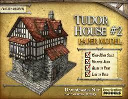 what makes a house a tudor tudor house 2 paper model dave graffam models fantasy