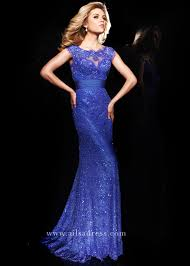 romantic cap sleeves crystal embellished lace purple prom dress