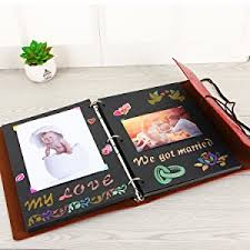 photo album black pages xiujuan scrapbook butterfly girl vintage leather refillable