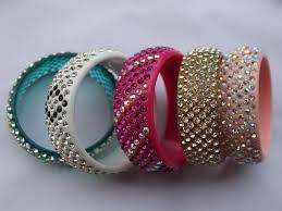 rhinestone bangles bracelet images 16 colors 7 row crystal rhinestone acrylic bracelet resin bangle jpg