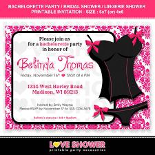 lingerie bridal shower invitations template resume builder