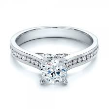 channel set engagement rings contemporary channel set engagement ring 100405