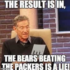 Bears Packers Meme - maury lie detector meme imgflip